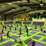 Main court that includes wall-to-wall interconnected trampolines of all shapes and sizes, blocks, boxes and angled trampolines that let you literally bounce off the walls.